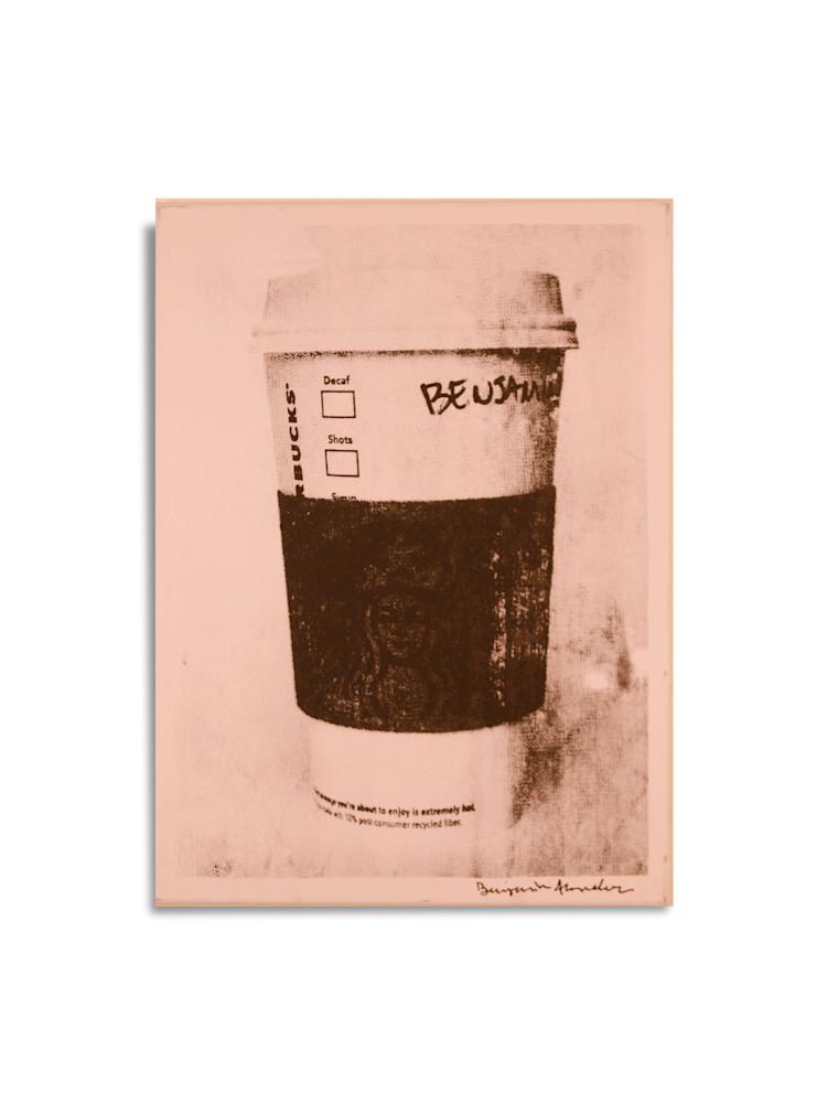Untitled Starbucks Cup Light Pink Benjamin Alejandro 20X26
