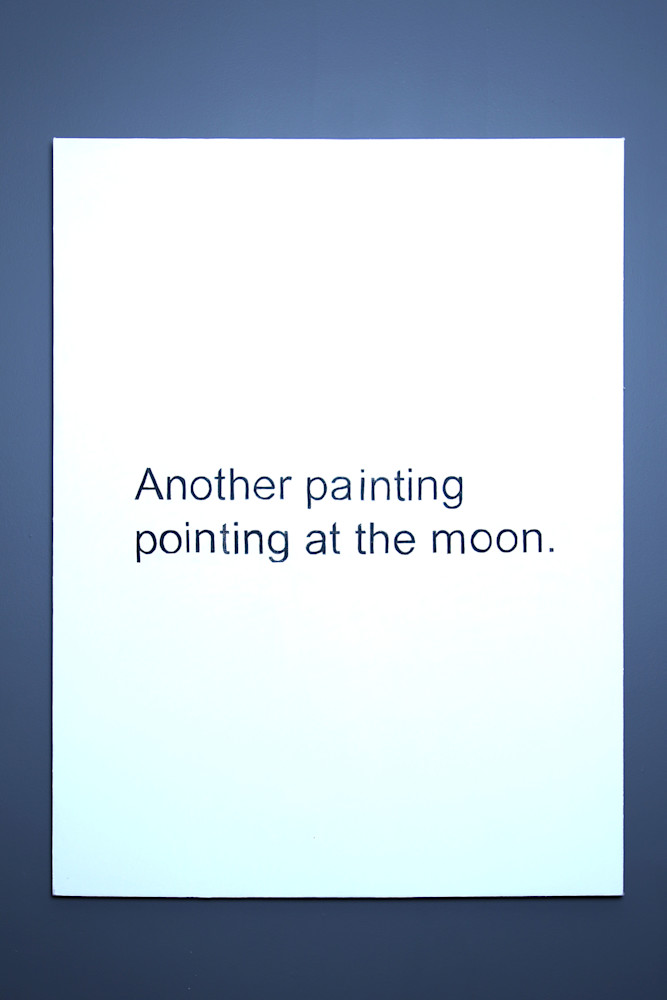 Another Painting Pointing at the Moon Acrylic, Canvas 36