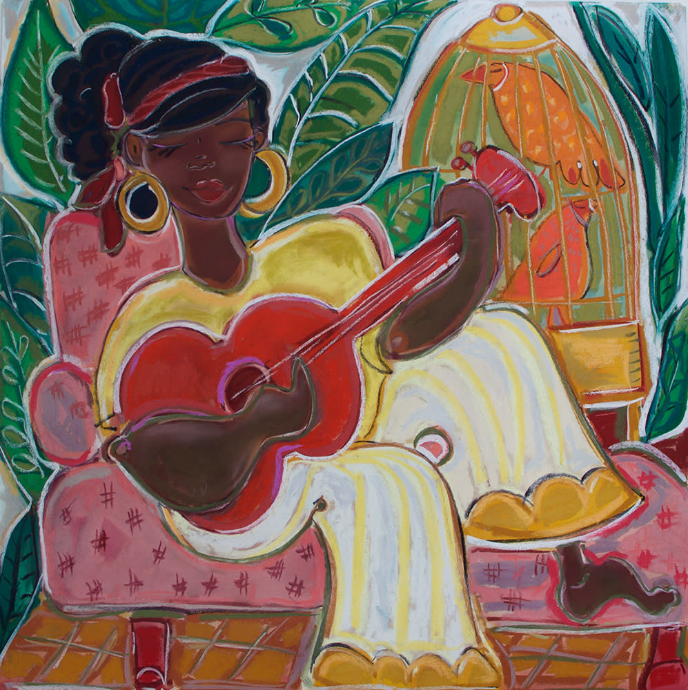 lady with red guitar   web