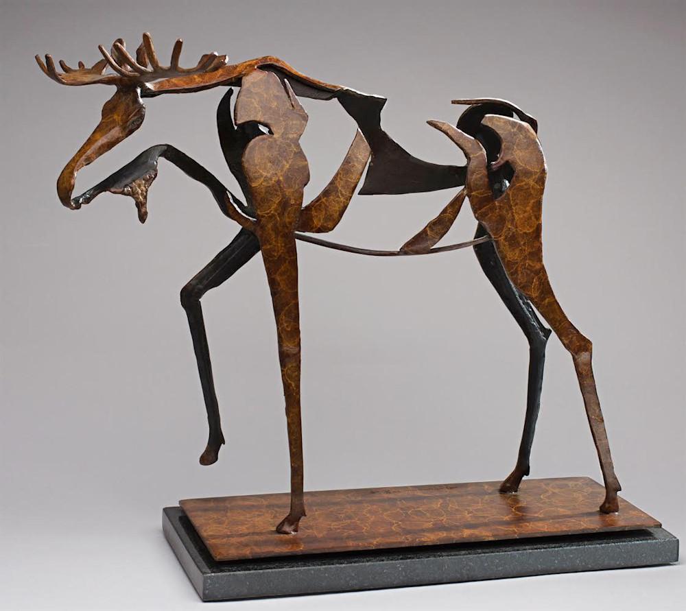 Through the Marsh (Moose) 17x15x6 $2900