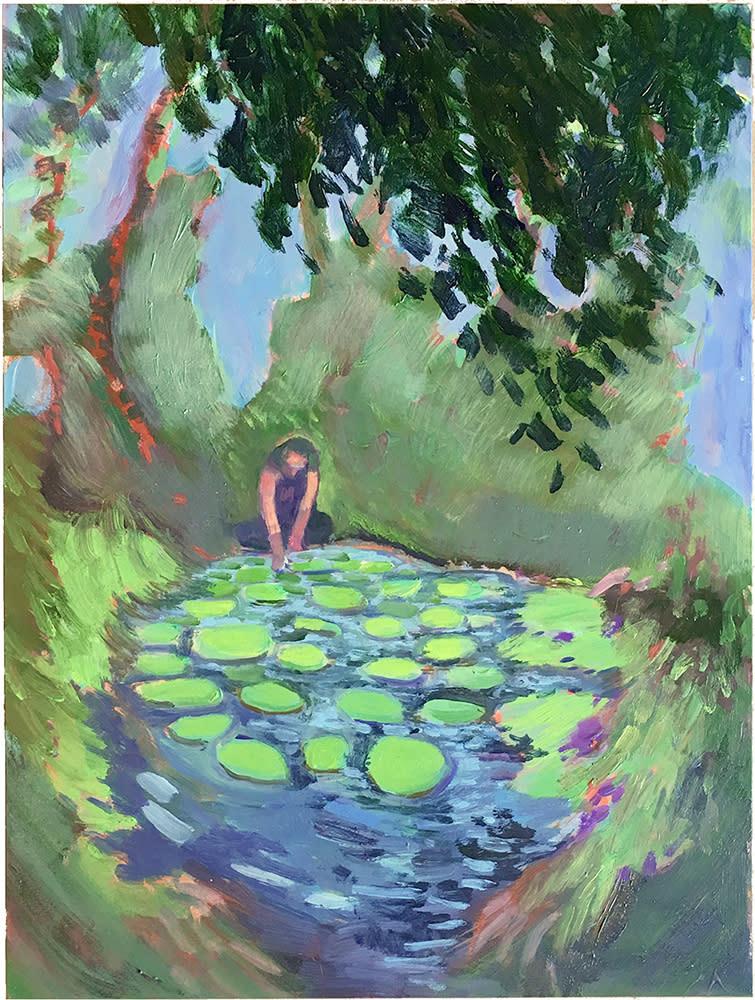 Stevens Narcissus lily pond 1000