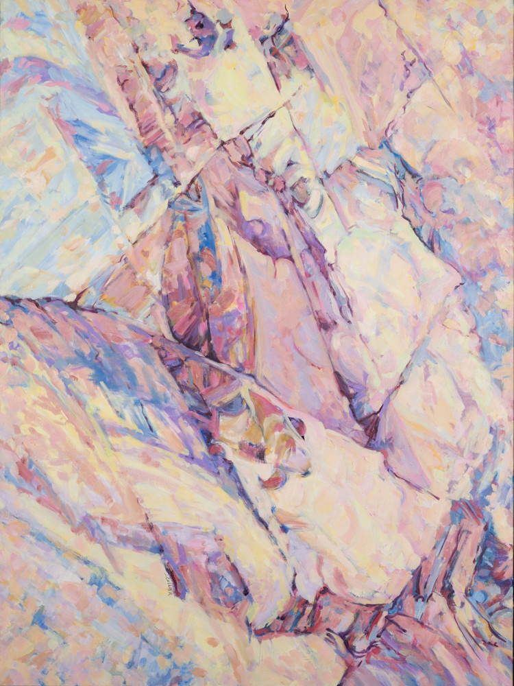 Red Rock Canyon   Pastel Cracks in Time 3