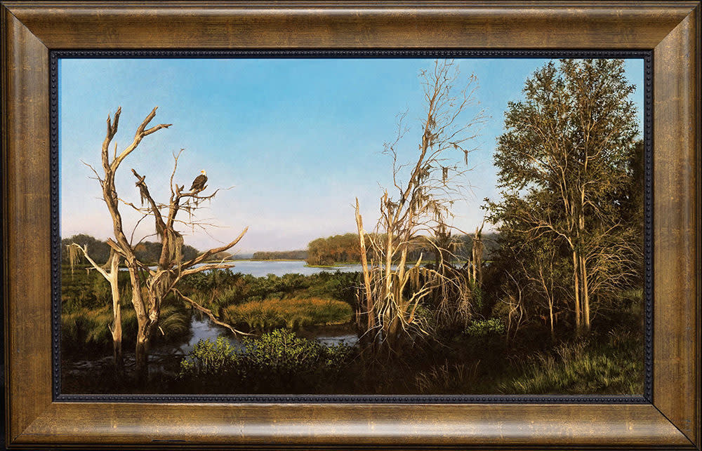 Calm Eagles Rest framed 1000 pixels