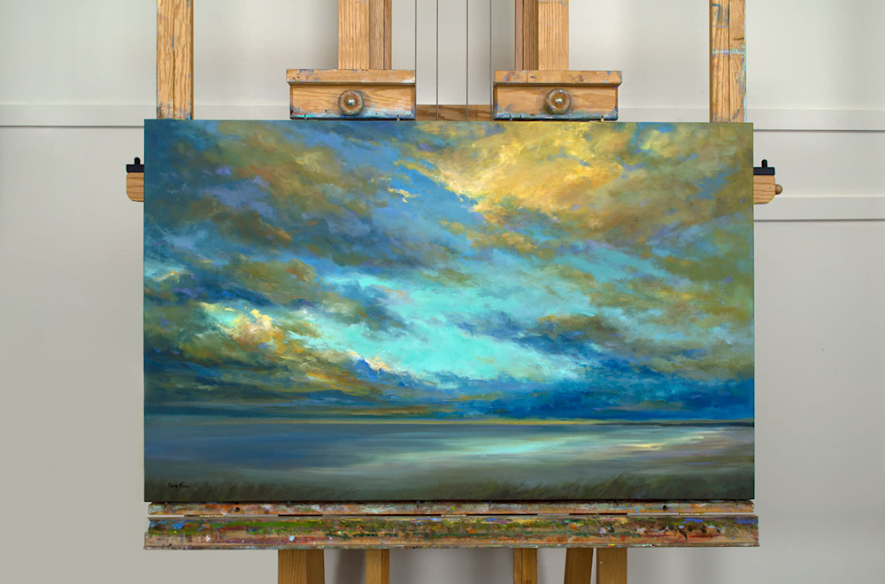 4497 on easel