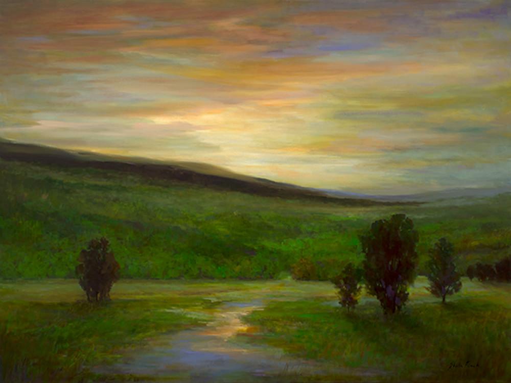 4496 dusk on the hills 36x48