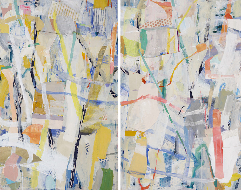 Sky Hoyt Piecing it Together diptych 48x60