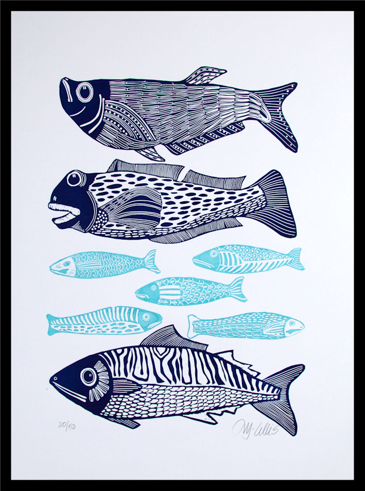 big fish mackrel framed