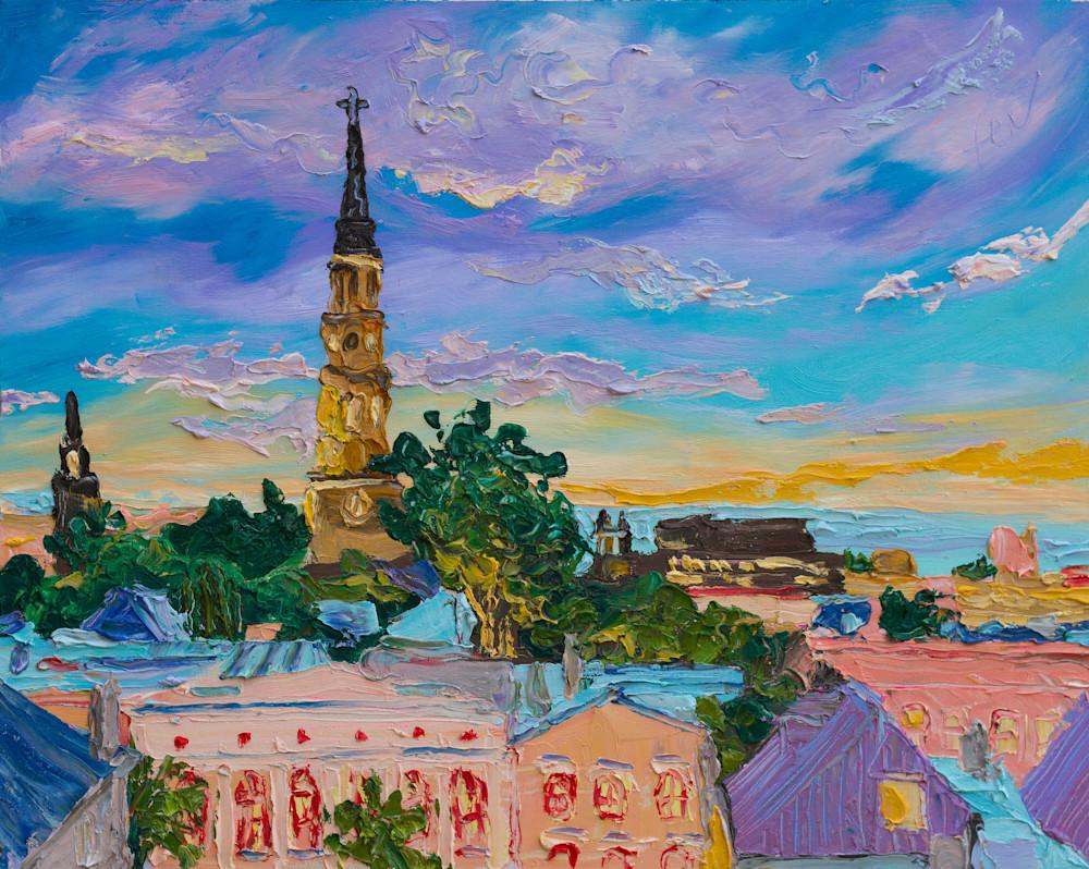 Violet Charleston Skyline