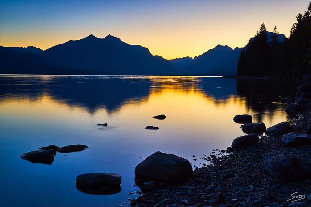 Blue Hour at Lake McDonald 1000px