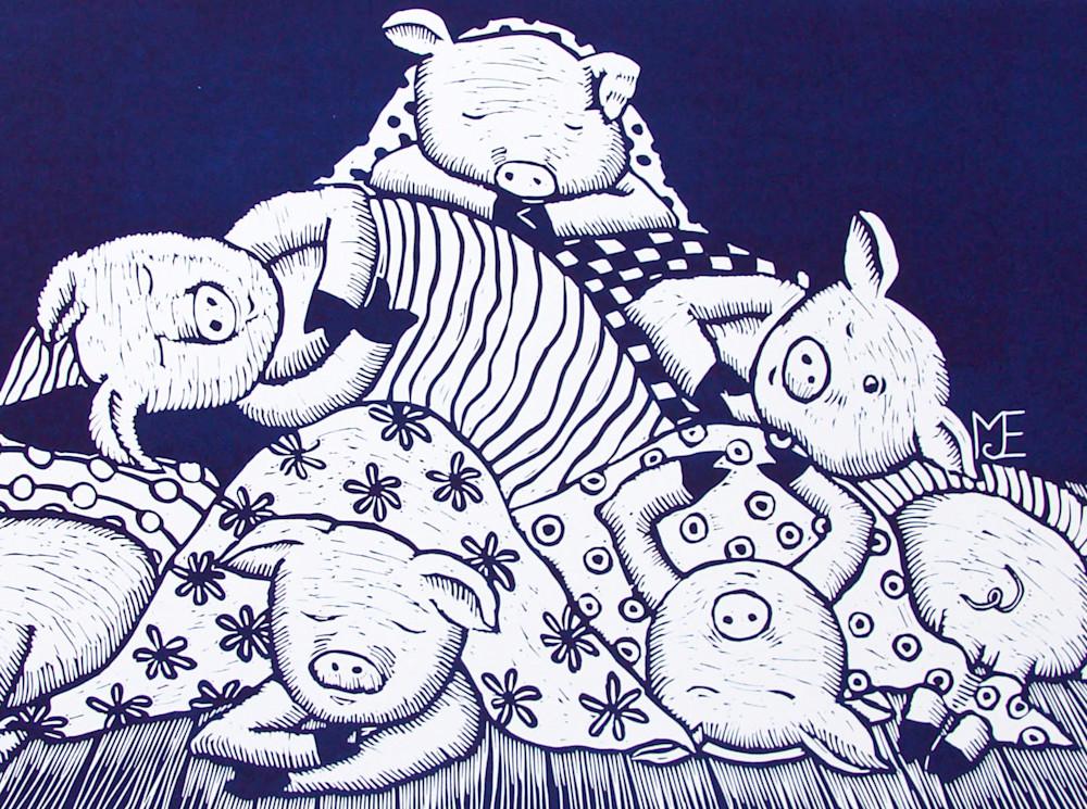 Pigs in blankets navy detail