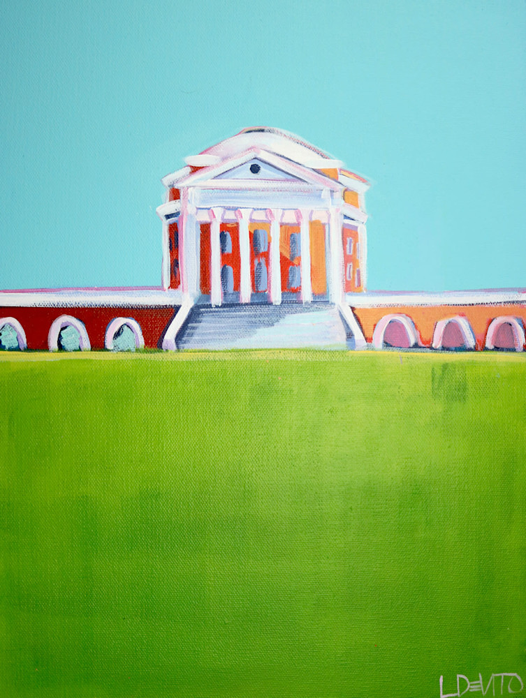 UVA Rotunda Print Blue