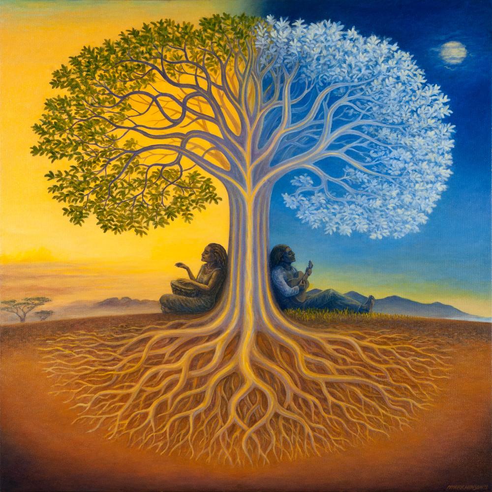 Django's Tree original oil painting