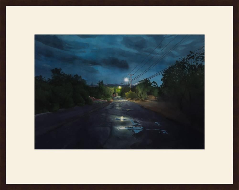 Nocturne, Upper Canyon Road framed