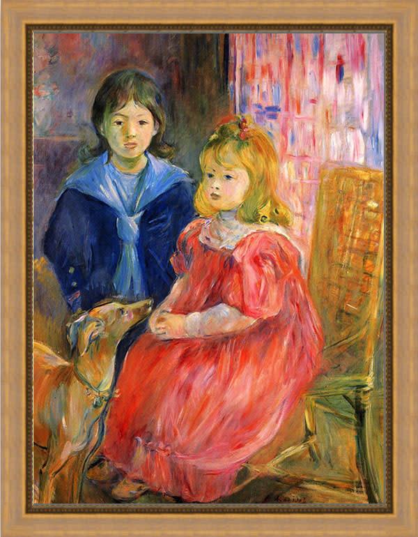 Children of Gabriel Thomas by Morisot framed