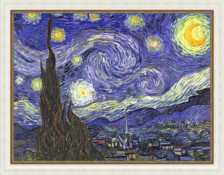 starry night by van gogh frame