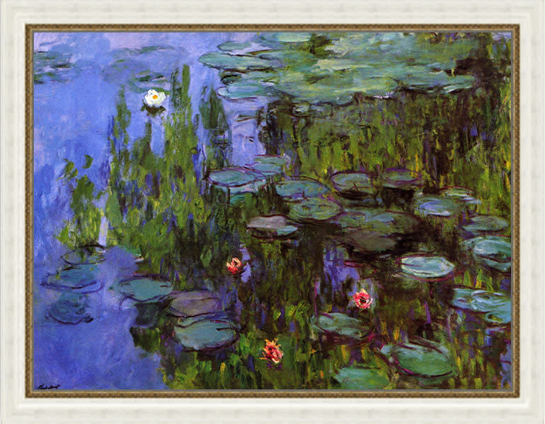 Gardens by Monet frame