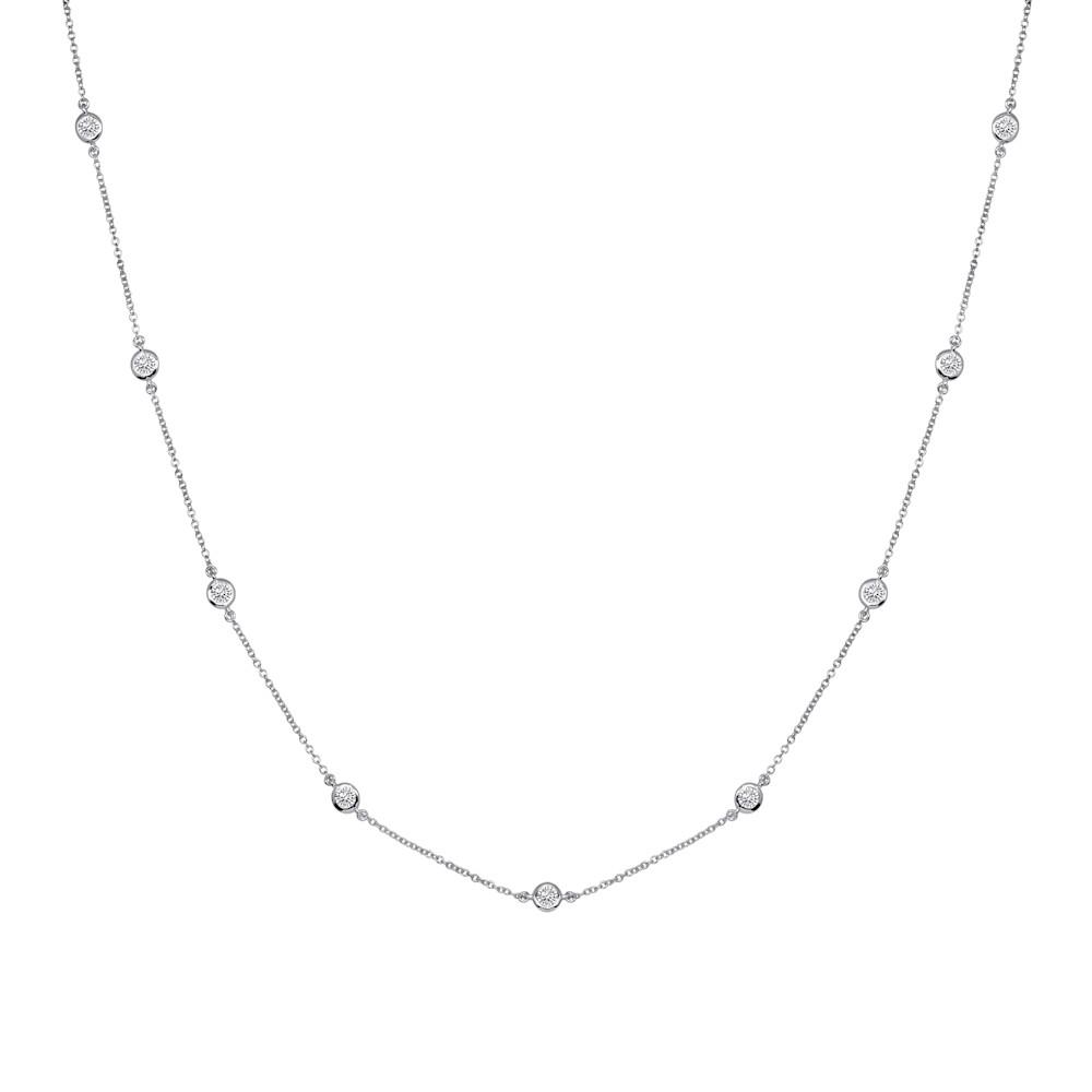 Sterling Silver Short Floating Necklace G100015 SVR a 210000000355
