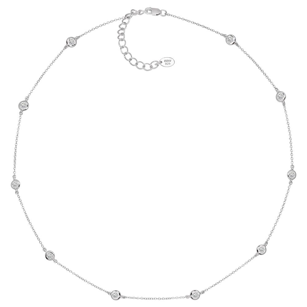 Sterling Silver Short Floating Necklace G100015 SVR b 210000000355