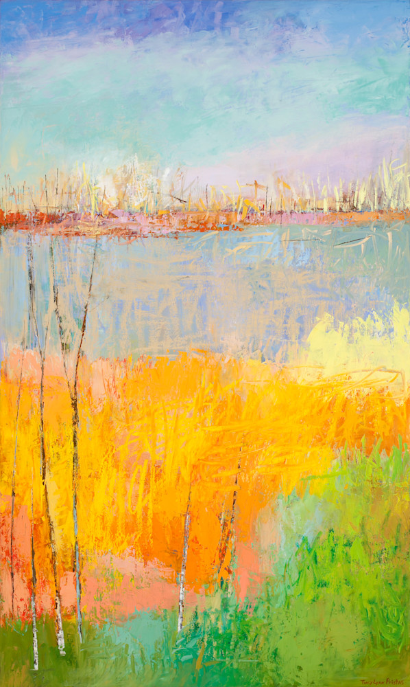 Abstract Landscape Paintings Sweet Enchantement Tracy Lynn Pristas