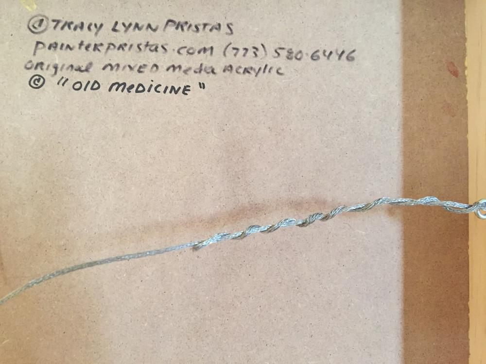 Tracy Lynn Pristas Old Medicine Backside Archival Panel JPG