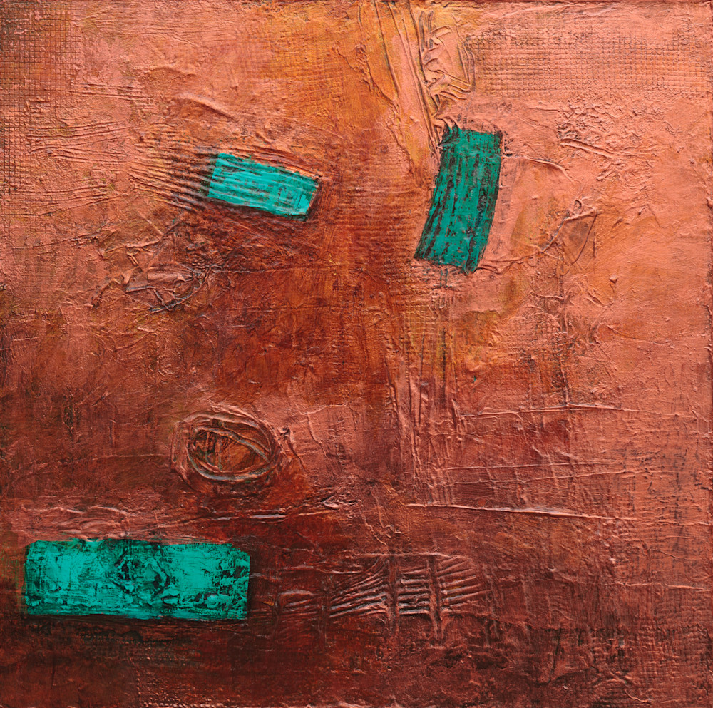 Abstract Paintings  Western Art Coper Artwork Frontier Talisman Tracy Lynn Pristas