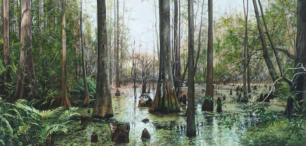 Kevin Grass Nicholas's Swamp Acrylic on canvas painting