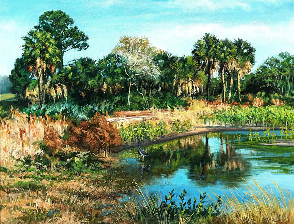 Kevin Grass Still Water Oil on canvas painting