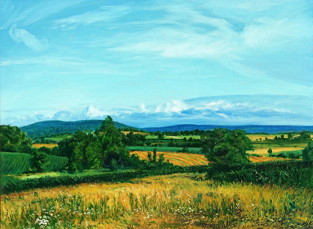 Kevin Grass Distant Ozark Foothills Oil on canvas painting