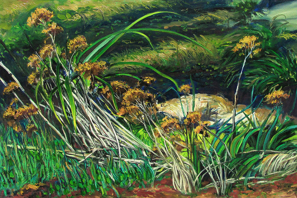 Kevin Grass Wildflowers Oil on canvas painting