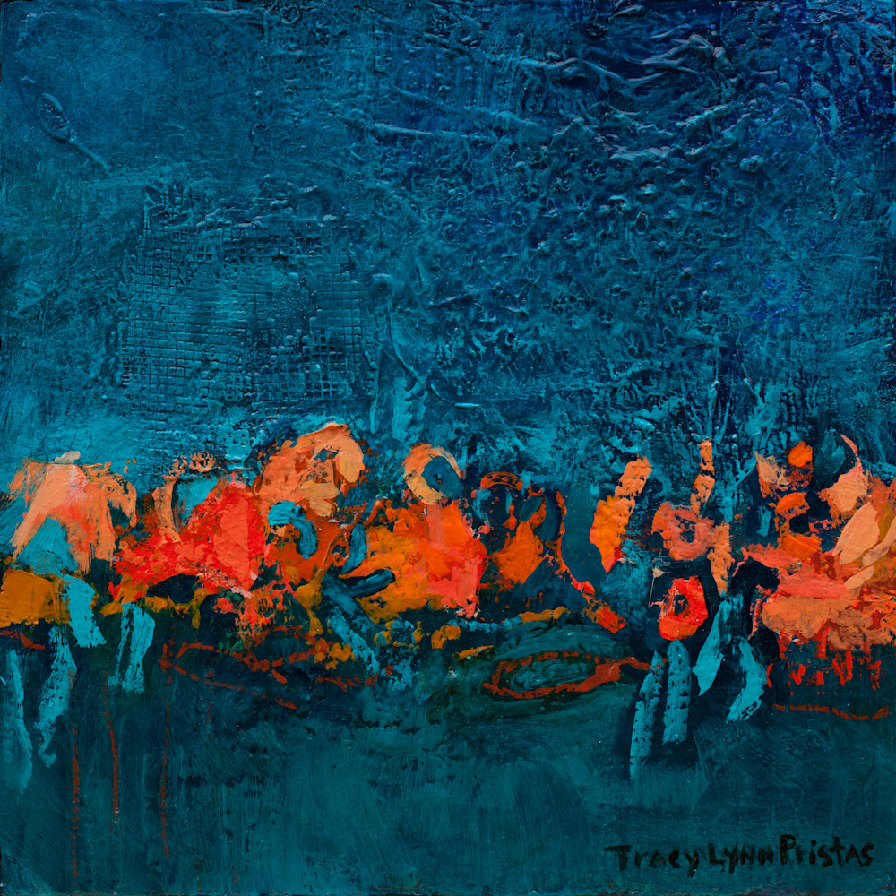 Tracy Lynn Pristas Abstract Textured Art  Windswept Weaver I