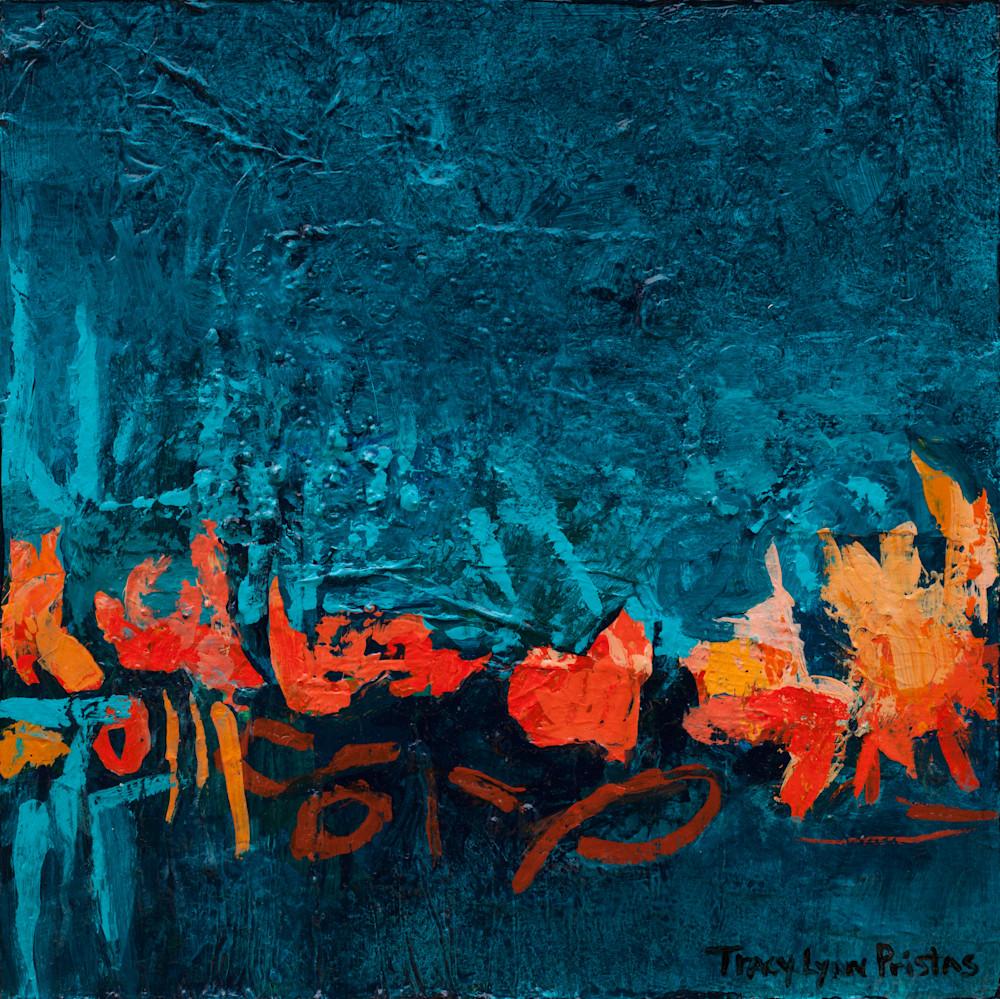 Tracy Lynn Pristas Southwestern Abstract Landscape  Windswept Weaver III