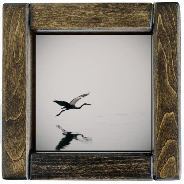 Heron In Flight Framed