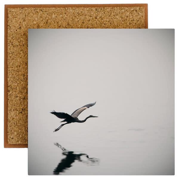 Heron In Flight Photo Tile