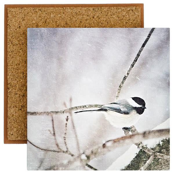 Chickadee Photo Tile