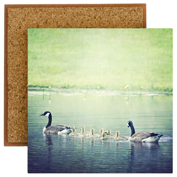Baby Geese Photo Tile