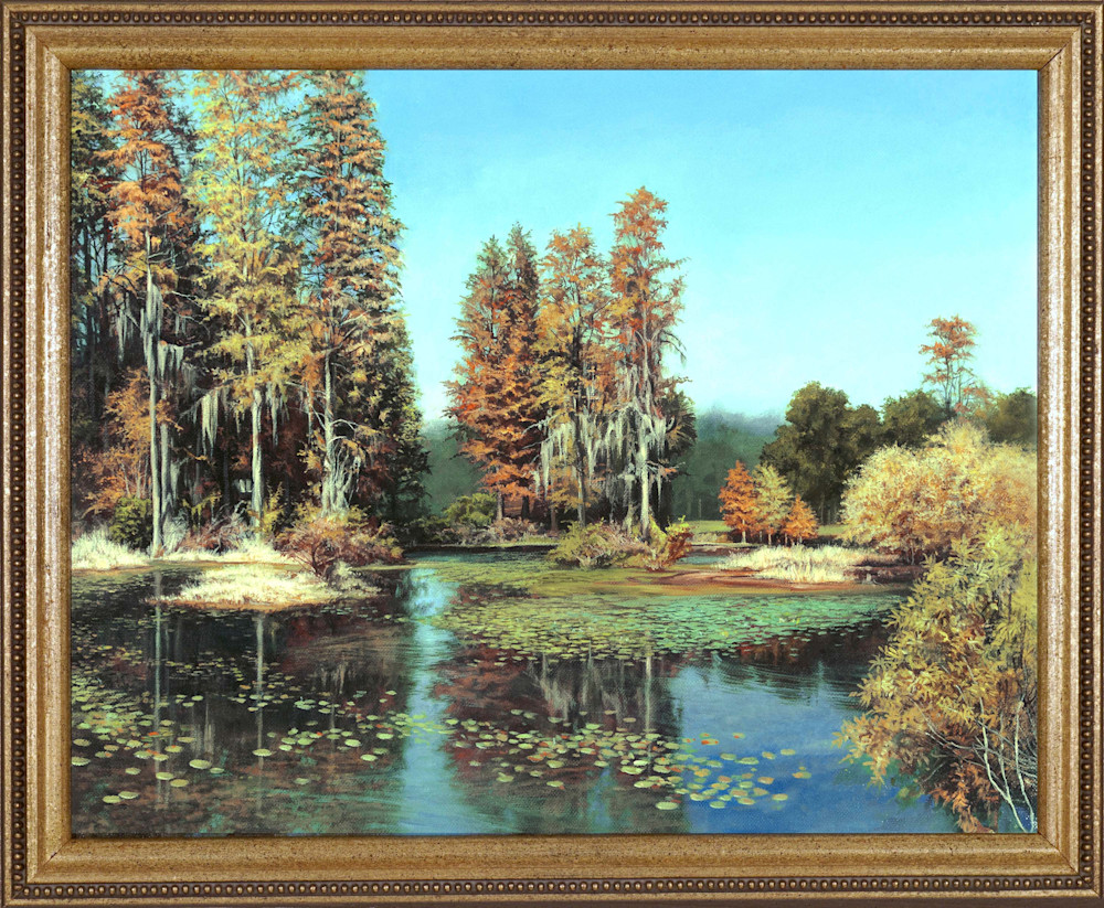Autumn Pond framed