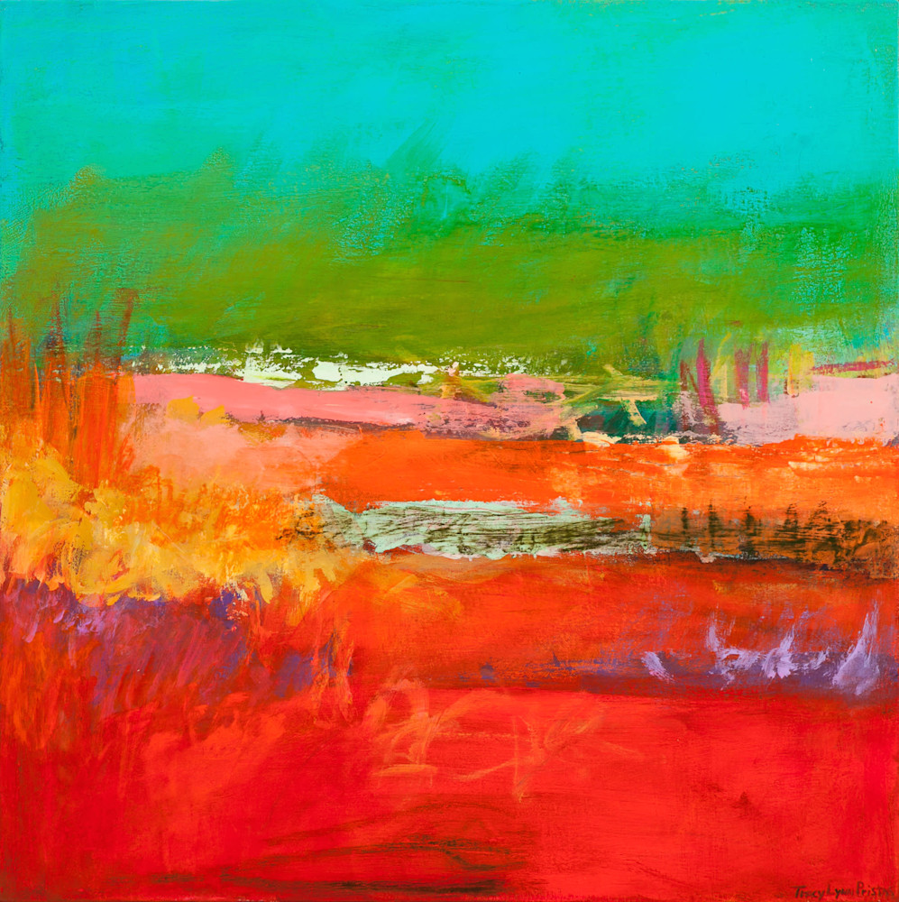 Tracy Lynn Pristas Abstract Landscape Paintings Sold Watching Winds 1