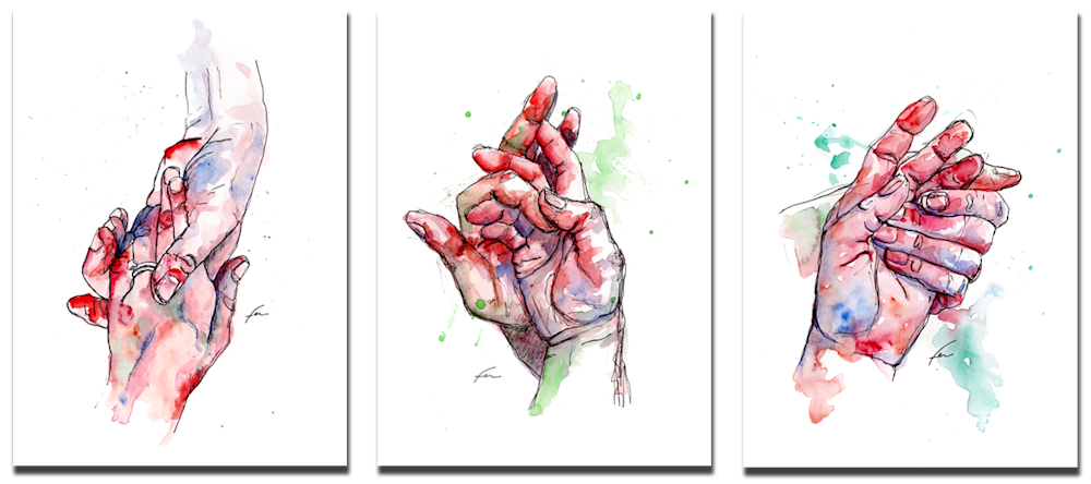 hands set of 3