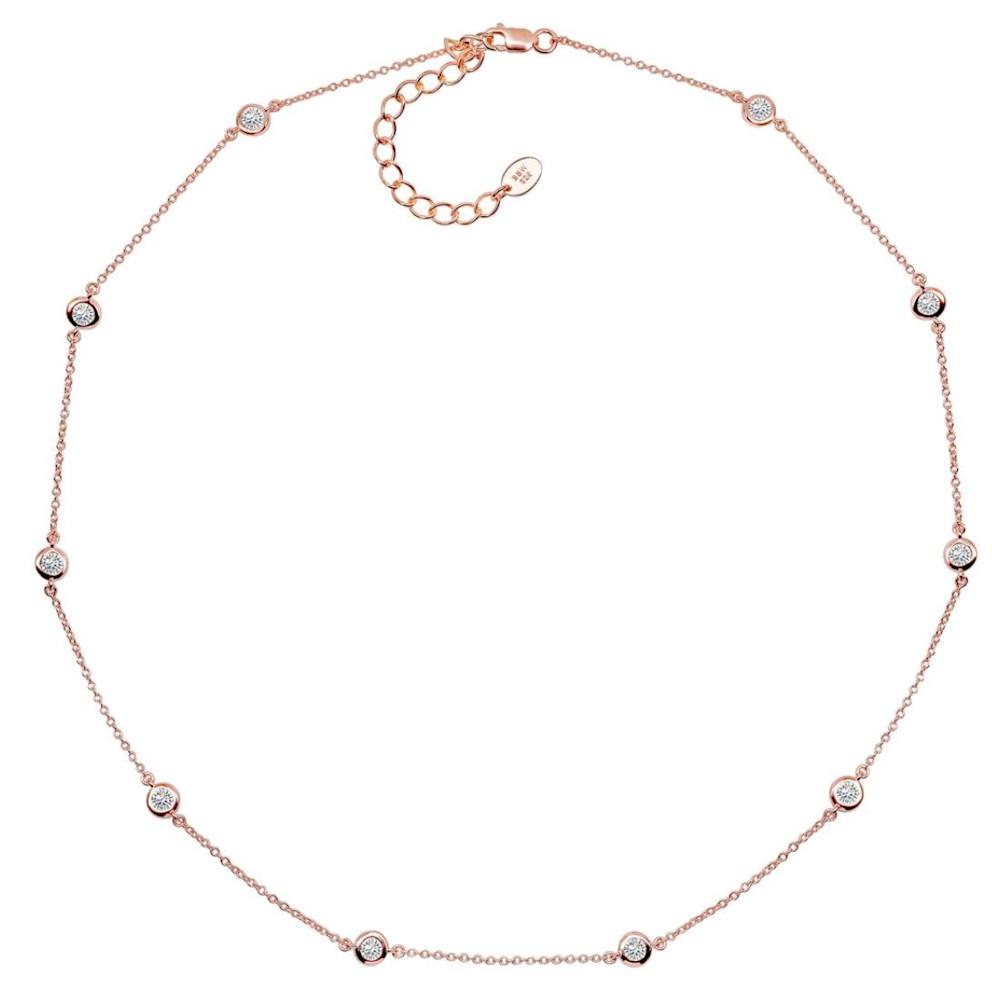 18 kgp Rose Gold Regal Short Floating Necklace 2