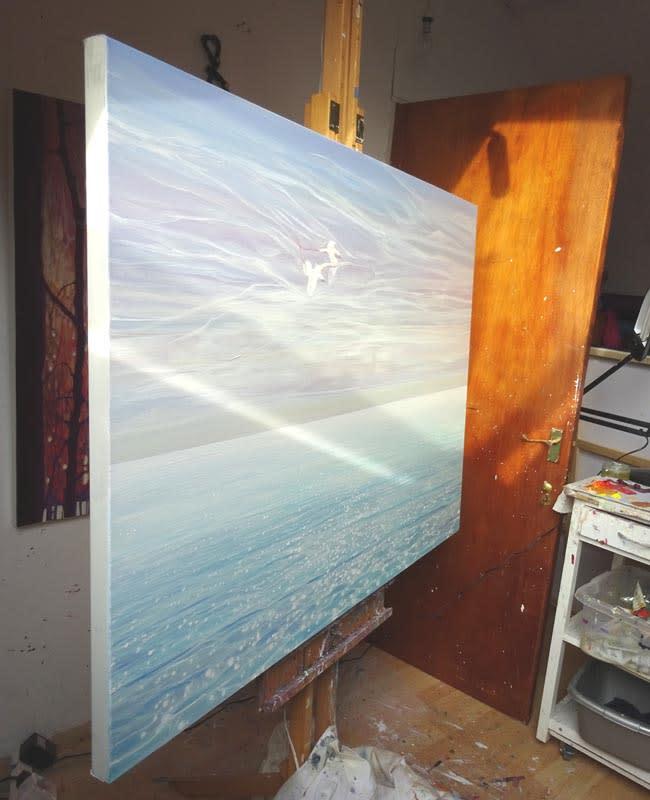 white birds blue sea d1 S