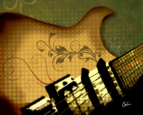Corinabakkegreenandgoldgrungeguitar wyxcpf