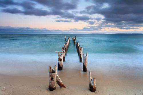 Cape cod falmouth pier sunset hq07xe