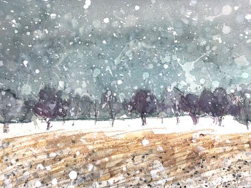Giant snow flakes. spring snow. lrg sig jmm lzwbwu