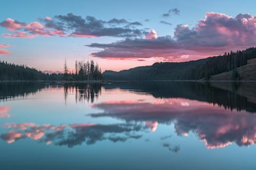 Island lake sunset asf k1tsgx