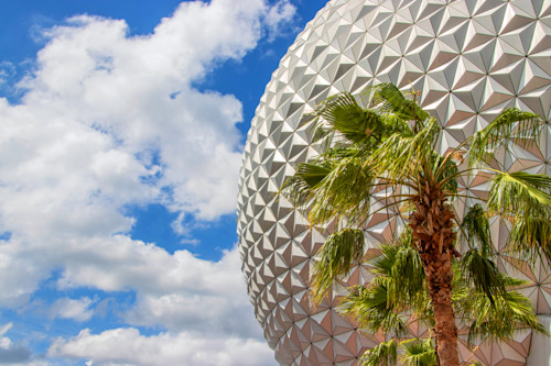 Spaceship earth and palm tree 2018 msbahl