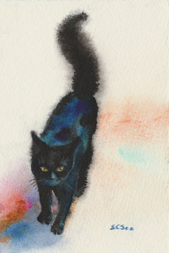 2 black cat strolling 2 4x6  02 fvnock
