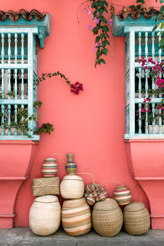 Baskets between windows cartagena colombia owrsgj