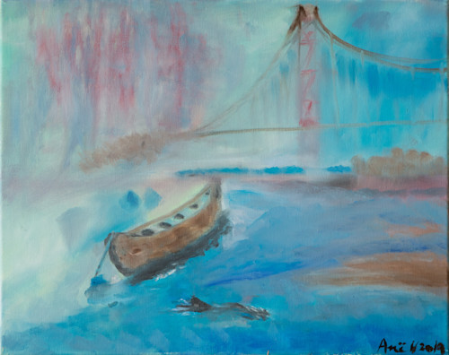 Swimmer by the bay ane howard paintings 03 sqyv3q