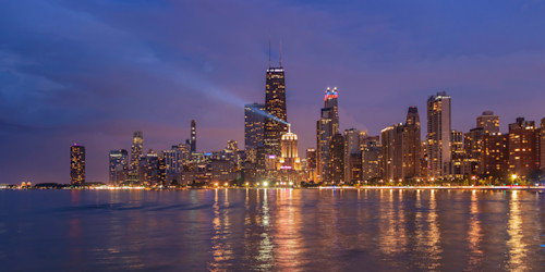 Photographers point view of chicago skyline o9hyny