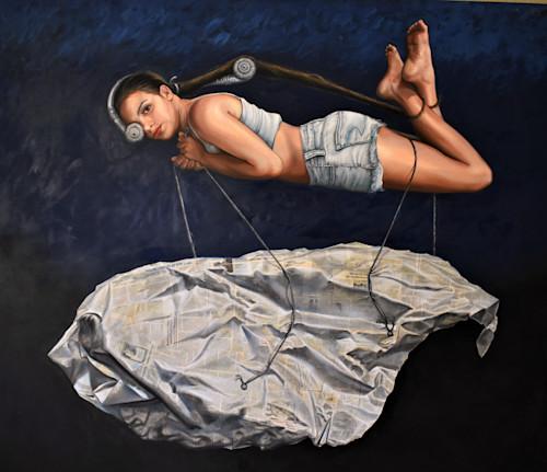 Danae oleo tela 68x58 pulgadas 15 000 2018 1er premio optimus gallery ihuvhn